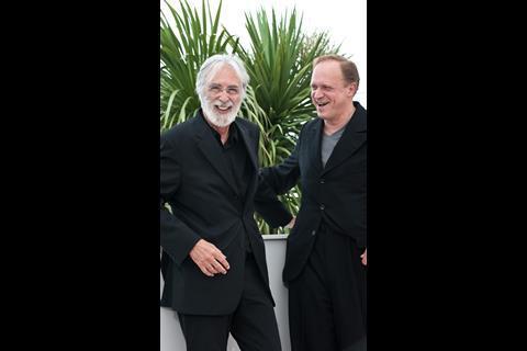 Director Michael Haneke and actor Ulrich Tukur